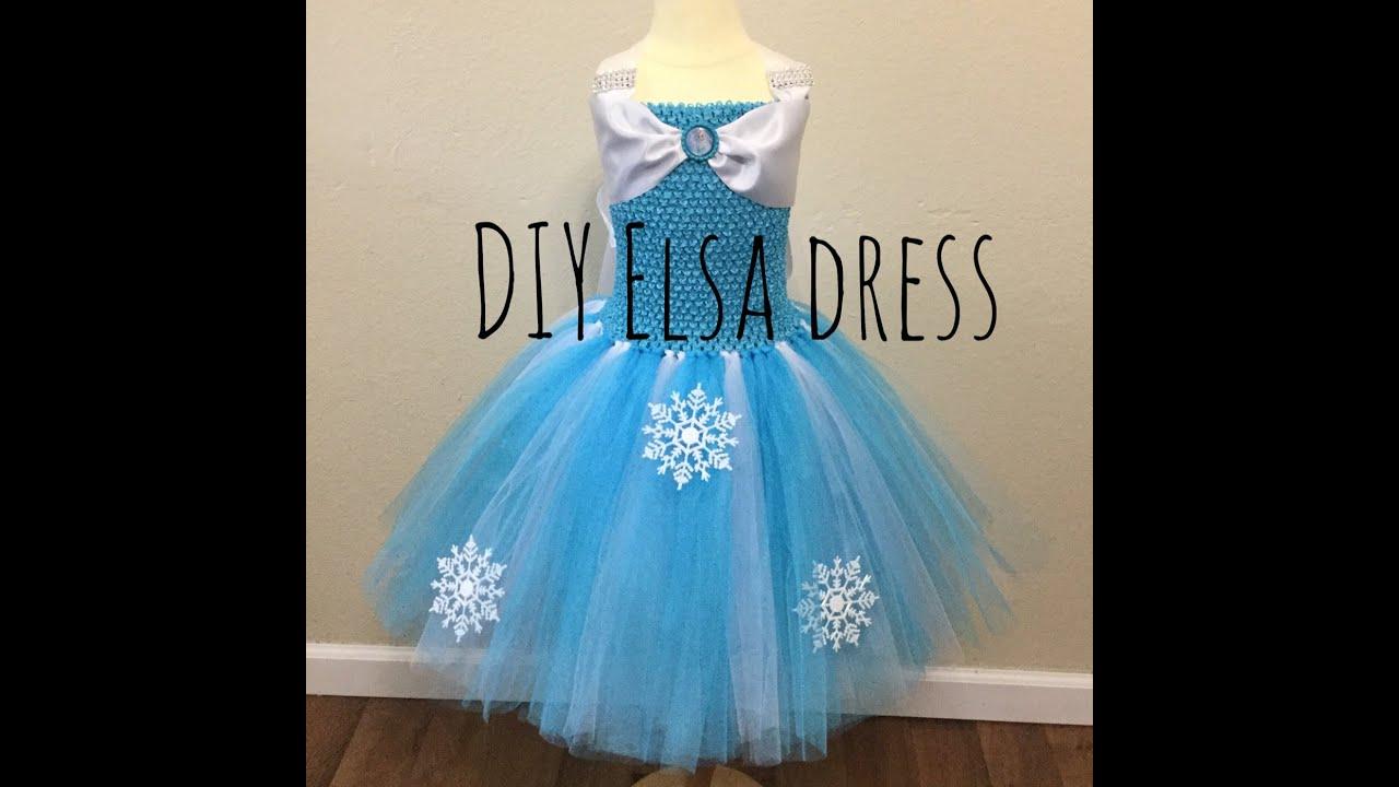 How to make an Elsa tutu dress - YouTube