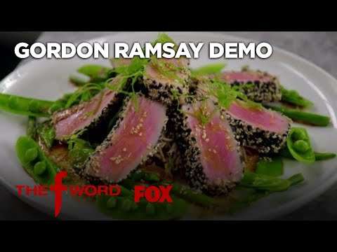 Gordon Ramsay Demonstrates How To Cook Delicious Sesame Crusted Tuna | Season 1 Ep. 10 | THE F WORD