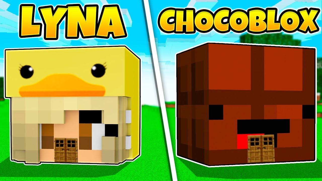 CASA DE LYNA VS CASA DE CHOCOBLOX EN MINECRAFT!!