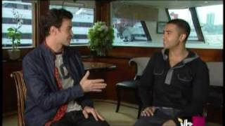 "Jay Sean and Jim Shearer at VH1 Top 20 Countdown - ""Down"" number one song in America"