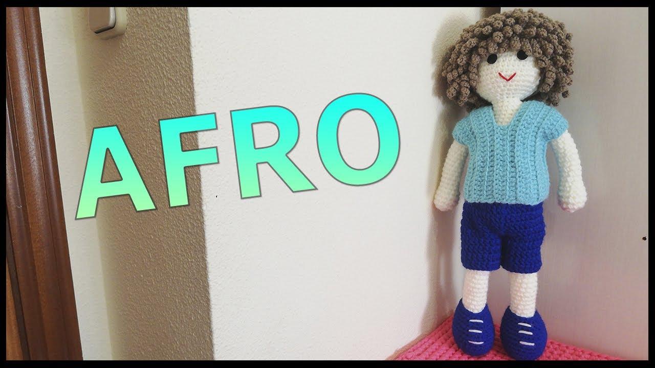 Muñeco Afro a ganchillo