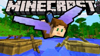 Minecraft 1.9 Snapshot: Elytra Wings! Flying Hang Glider Gear, End City Ship Loot, New Paddle Boats