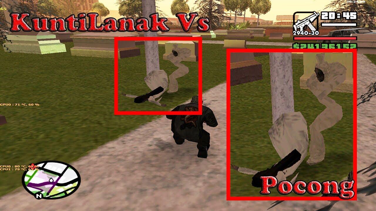 Kuntilanak Vs Pocong Fight Gta San Andreas Cleo Download Link Youtube