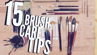 How to Use Watercolors: Using and Caring for Your Brushes