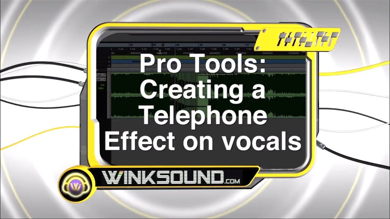 pro tools creating a telephone effect on vocals winksound youtube. Black Bedroom Furniture Sets. Home Design Ideas