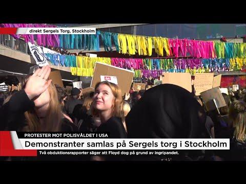 Tusentals på Sergels torg i Black live matter-manifestiation - Nyheterna (TV4)