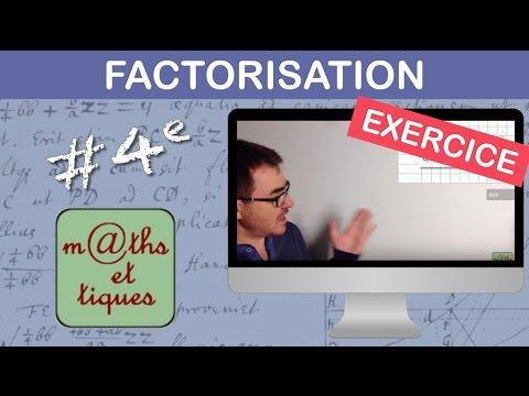 EXERCICE : Factoriser une expression - Quatrième