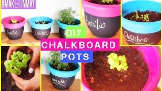 Diy Chalkboard [herb] Pots   #makeitinmay 2015