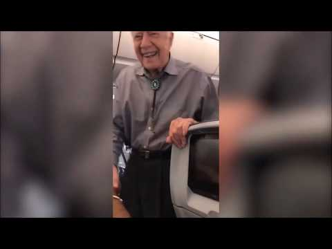 JIMMY CARTER shakes hands w EVERY passenger on plane. EVERYONE MATTERS.