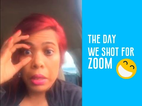 Day 1: The day we shot for Zoom and couldn't open my eyes!