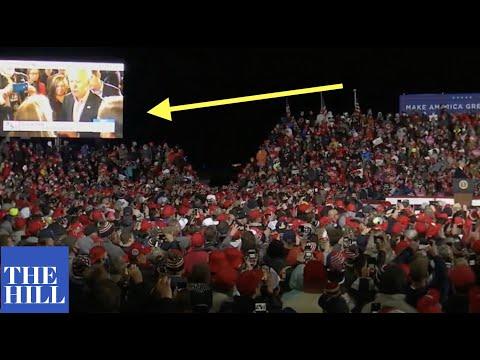 Trump shows videoat rally of Joe Biden and Kamala Harris