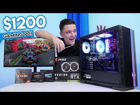 Insane $1200 Gaming PC Build 2019/2020! [1440p Killer - ft. Ryzen 5 & RTX 2060 Super!]