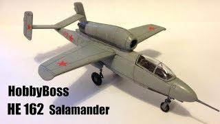 Hobby Boss 1//72 Scale He162 Salamander Plastic Model Building Set # 80239