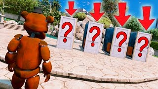 WITHERED FREDDY DON'T PICK THE WRONG DOOR OR YOU'LL DIE! (GTA 5 Mods For Kids FNAF Funny Moments)