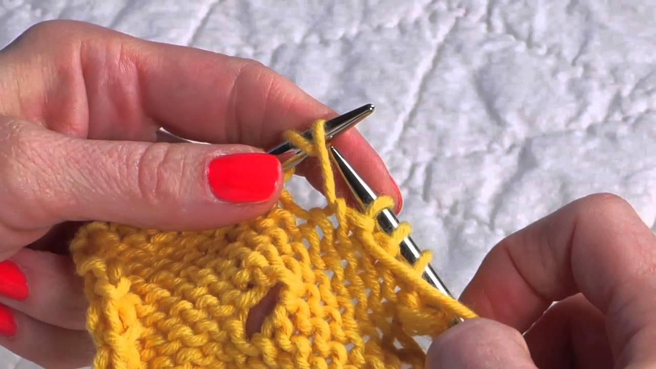 Yo Between Knit And Purl Stitch : Double Yarn Over (yo twice) - YouTube