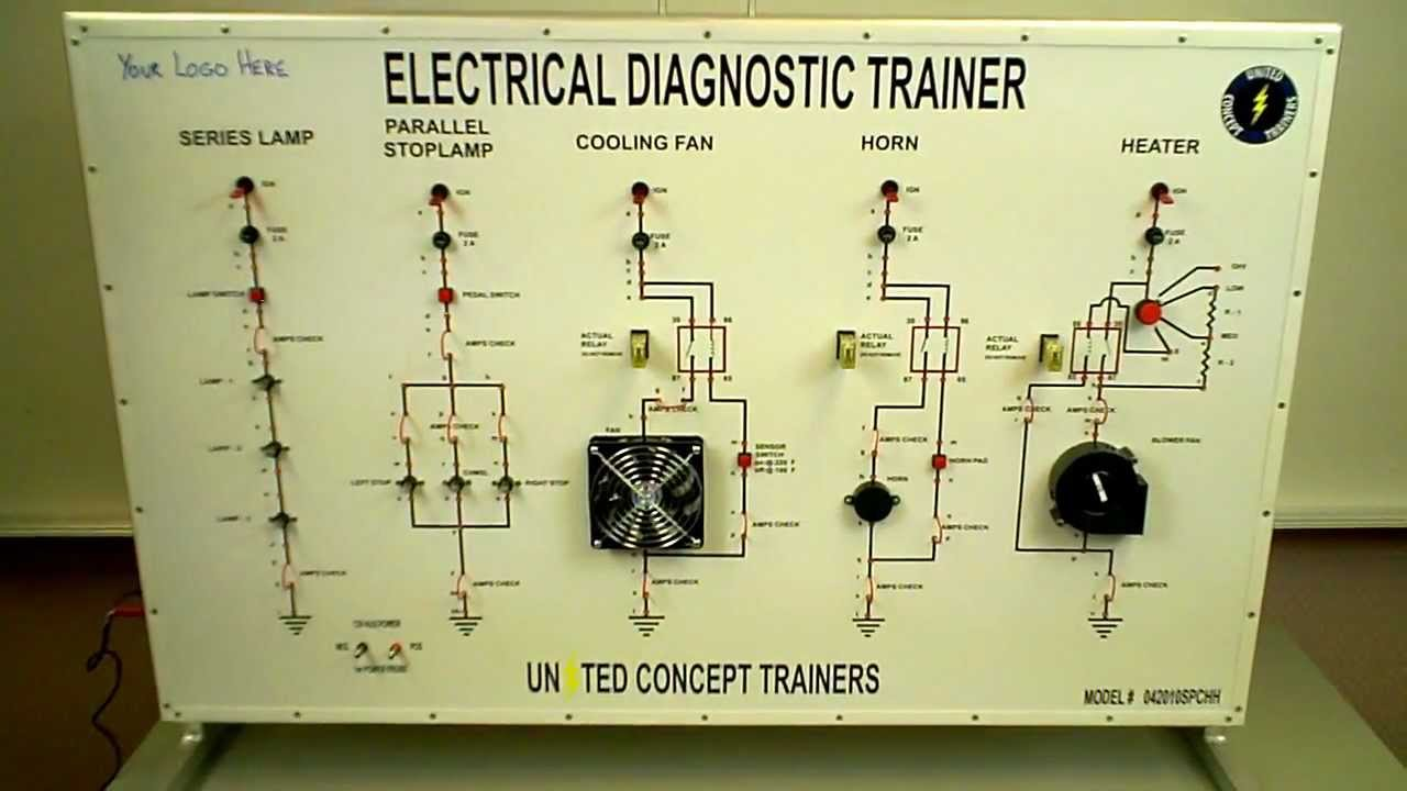 5 circuit electrical diagnostic trainer preview united concept rh youtube com residential wiring training residential electrical wiring trainer