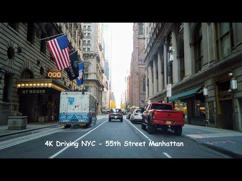 4K Driving NYC - 55th Street Manhattan | Nov 2020