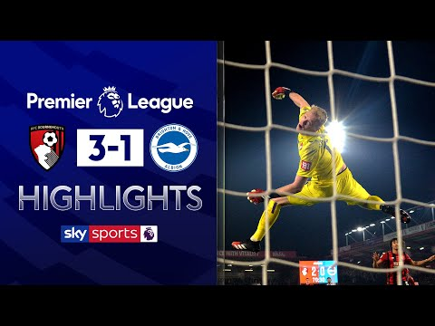 Ramsdale stars in key win for Howe! | Bournemouth 3-1 Brighton | Premier League Highlights