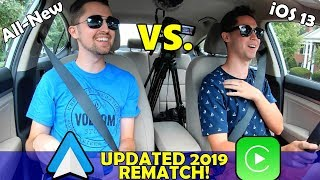 ALL-NEW Android Auto vs. Apple CarPlay iOS 13 COMPARISON!   Which Update is Better??