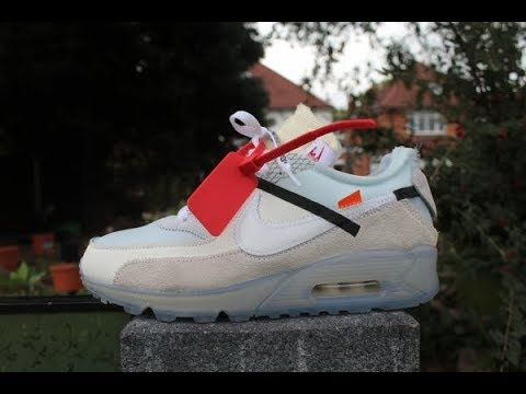 aea04dfb21 Nike Air Max 90 Virgil Abloh The Ten OFF WHITE On Foot YouTube