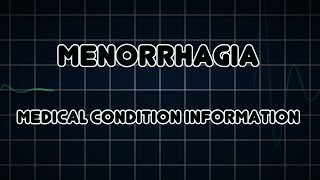 This video is about Menorrhagia - heavy periods. This is a debilitating problem for many women, inte.