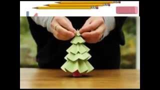 Как сделать из бумаги  елку , красивая елка из бумаги(Как сделать из бумаги елку , красивая елка из бумаги., 2015-02-19T07:00:01.000Z)