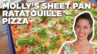 Molly Yeh's Sheet Pan Ratatouille Pizza   Girl Meets Farm   Food Network
