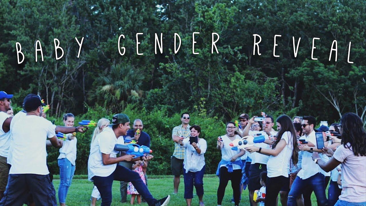 Baby Romero Praniuk Water Gun Gender Reveal Youtube