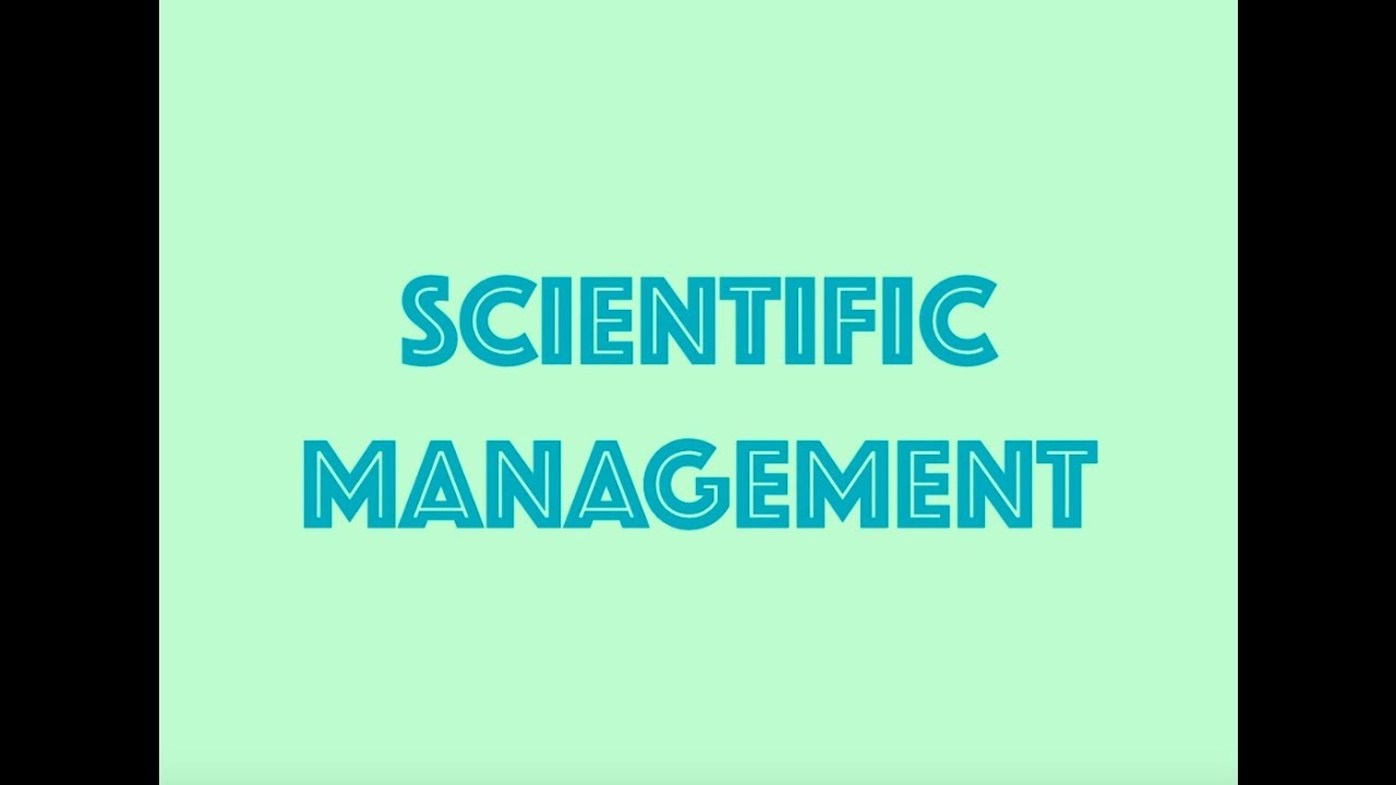 The Principles Of Scientific Management Pdf