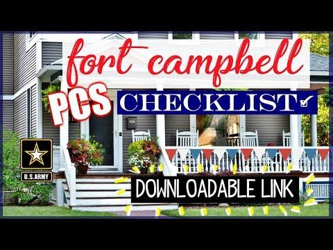 PCS Checklist Fort Campbell Kentucky