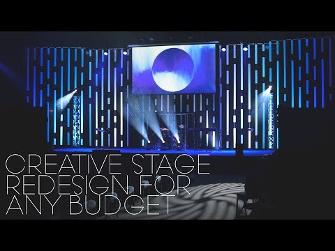 Vertical Blinds Church Stage Design Idea | $uper Cheap
