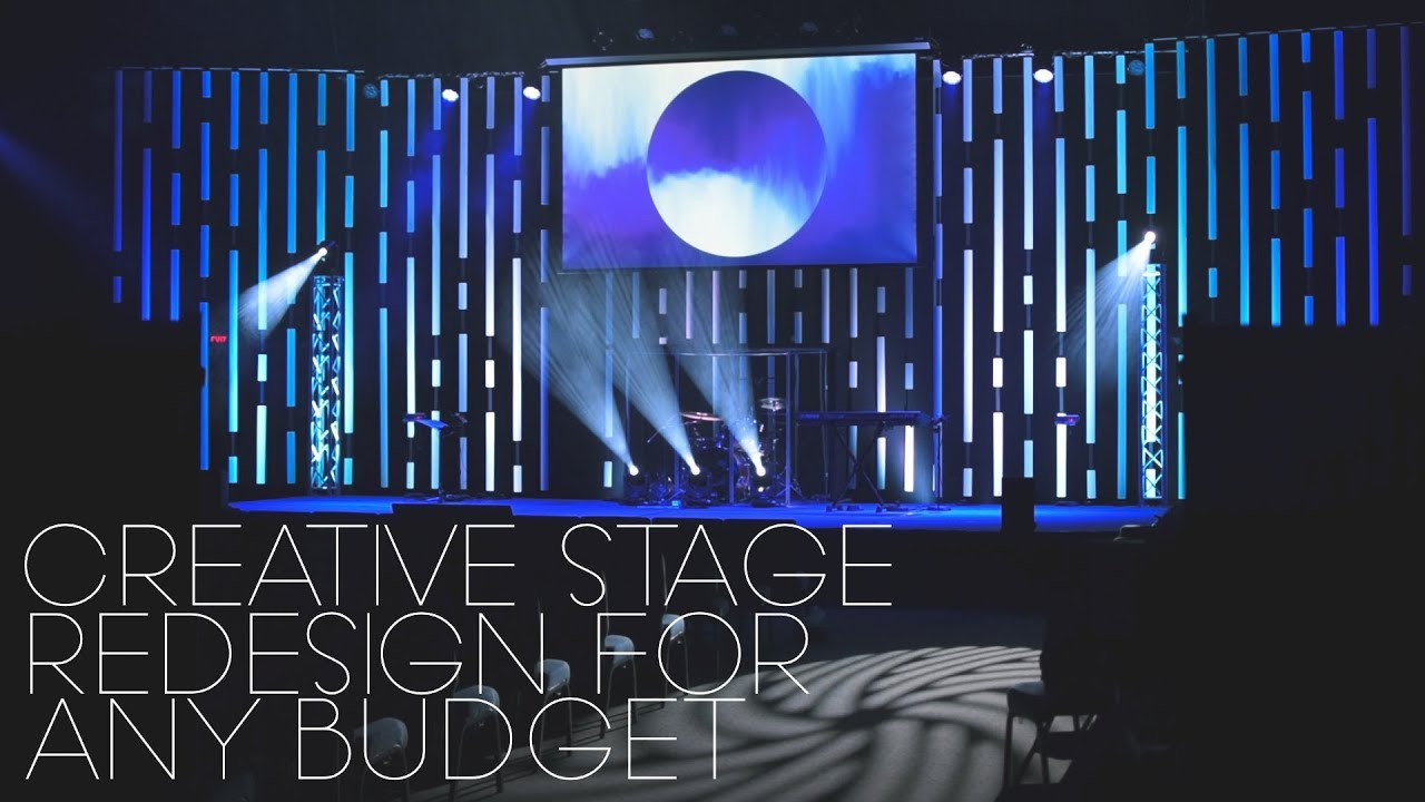 Vertical Blinds Church Stage Design Idea Uper Cheap Youtube