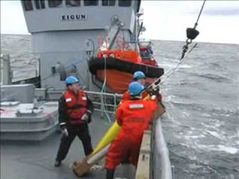Launching a Seaglider in the Norwegian sea while storm