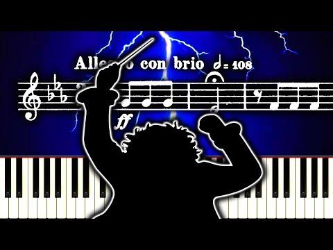 BEETHOVEN - SYMPHONY NO. 5 - MOVEMENT 1 - Piano Tutorial