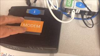 clickTel Internet cable modem & phone box setup at your arrival in Florida
