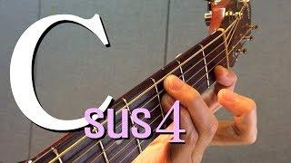 [하루10분 통기타] C sus4 코드 소리 & 모양 (중급) C sus4 chord guitar lesson - 기타솔져