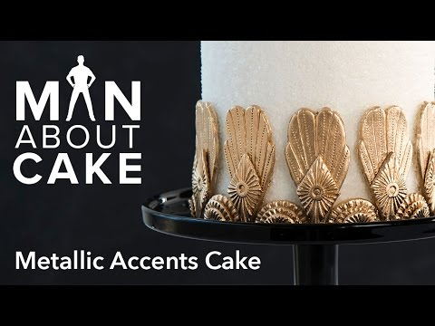 (man about) Metallic Accents Cake | Man About Cake
