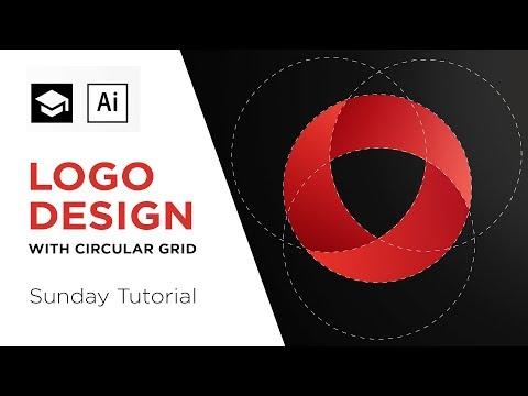 How to design a logo with circular grid   Adobe Illustrator Tutorial