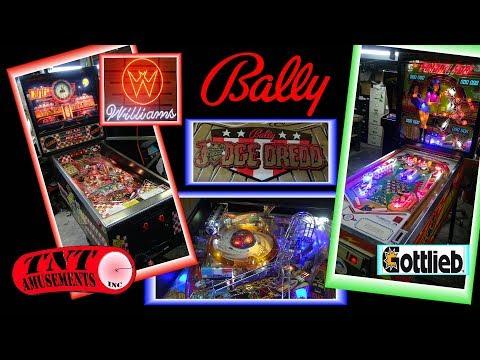 #1290 Williams DINER & FUNHOUSE-Bally JUDGE DREDD Pinball Machines- TNT Amusements