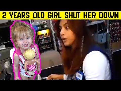The 2 years old shut down the cashier who questioned her choice of doll.