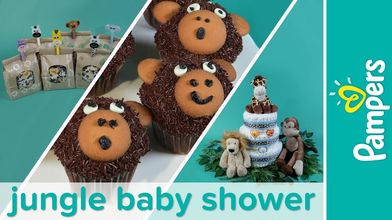 baby shower themes how to plan a jungle baby shower party pampers