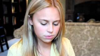 "Olivia (13) singing cover of Christina Perri ""Jar of Hearts"""