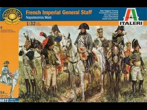 Italeri 1:72 French imperial general staff-Napoleon Wars -6016-6016