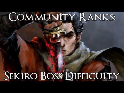 Community Ranks: Sekiro Shadows Die Twice Bosses from Easiest to Hardest