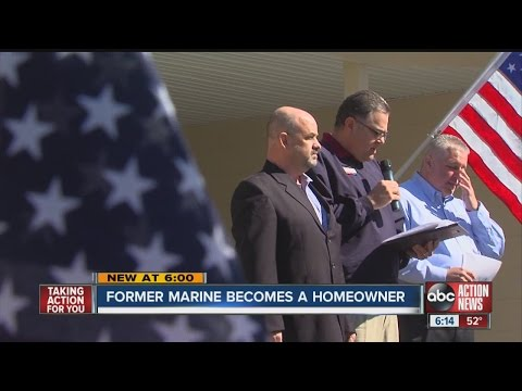 Former Marine gets mortgage-free home