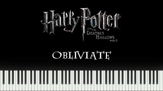 Harry Potter 7 - Obliviate (Synthesia Piano)