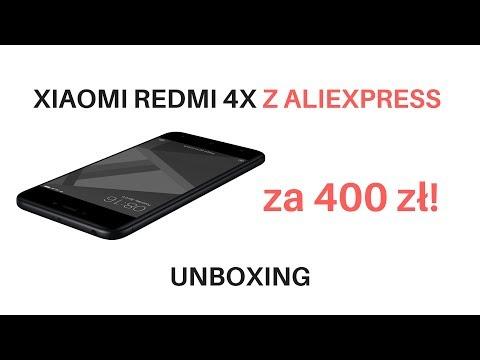 XIAOMI Redmi 4X Z Aliexpress UNBOXING