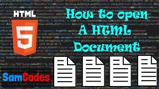 How to open a HTML Document