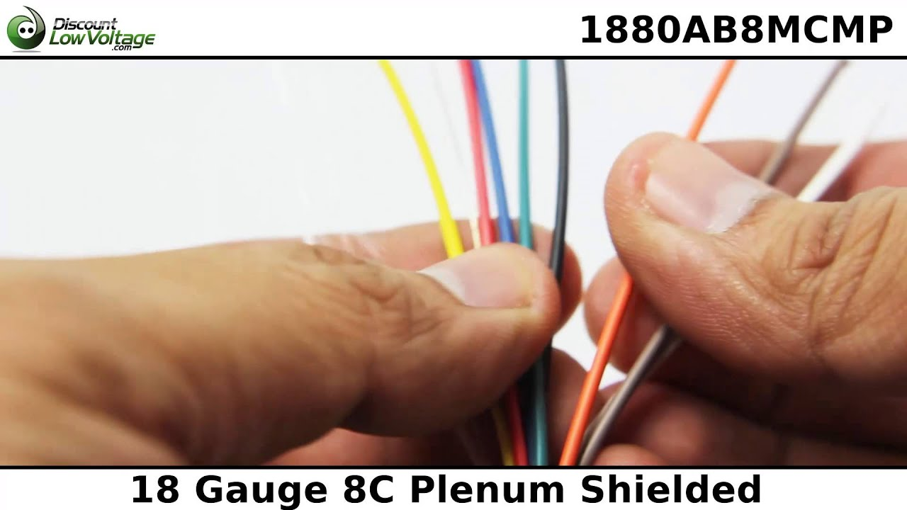 18 gauge 8 conductor Plenum Shielded Cable 1000ft - YouTube