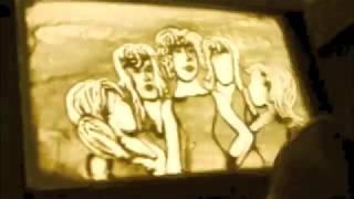 Dessin de sable, sand animation gala bob agency talent incroyable!